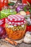 законсервированные овощи стоковое фото rf
