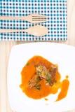 Законсервированные рыбы в томатном соусе стоковое фото rf