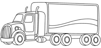 Законспектированная тележка мультфильма иллюстрация вектора