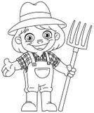 Законспектированный молодой фермер Стоковые Фотографии RF