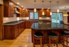законченная кухня заново Стоковое Фото