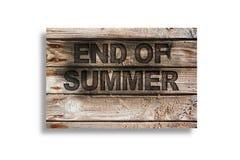 закончитесь лето Стоковое Фото