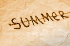 закончитесь лето Стоковое Изображение