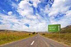 закончите дорогу Стоковые Изображения RF