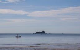 закончите съемку сделанную островом phi s в феврале моря Таиланд Стоковое фото RF