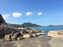 закончите съемку сделанную островом phi s в феврале моря Таиланд Стоковое Изображение RF