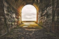 закончите тоннель стоковое фото rf