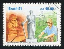 Законы о труде напечатанные Бразилией стоковое изображение