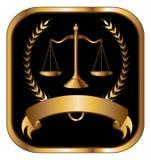Закон или золото уплотнения юриста иллюстрация штока