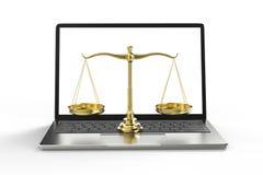Закон кибер или концепция закона интернета стоковая фотография rf