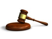 Закон молотка и символ правосудия Стоковые Изображения