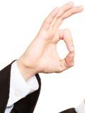 Закон Рука юриста человека показывая большой палец руки вверх Стоковое Фото