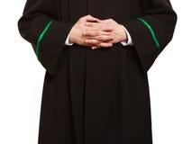 Закон Руки юриста юриста человека в польской мантии Стоковые Фотографии RF