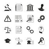 Закон советуя с, законные значки вектора соответствия иллюстрация вектора