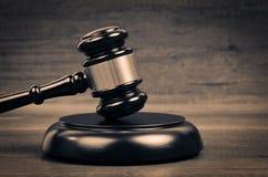 Закон судьи и символ правосудия Стоковое Фото