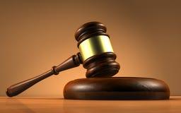 Закон судьи и символ правосудия Стоковое Изображение