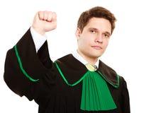 Закон Юрист человека в польской мантии рассчитывать пальцы Стоковая Фотография