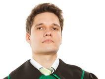 Закон Юрист юриста человека в польской изолированной мантии Стоковая Фотография RF