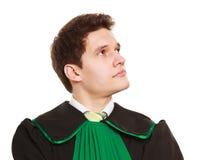 Закон Юрист юриста человека в польской изолированной мантии Стоковые Изображения RF