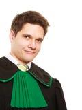 Закон Юрист юриста человека в польской изолированной мантии Стоковые Изображения