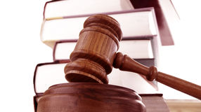 закон gavel Стоковая Фотография