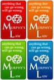 Закон Murphys иллюстрация вектора