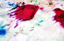 Закоптелая предпосылка краски голубого красного цвета серая абстрактная влажная Пятна картины Стоковая Фотография RF