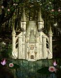 Заколдованный замок иллюстрация штока