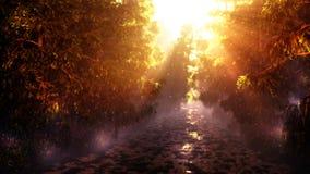 Заколдованный путь леса иллюстрация вектора
