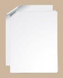 Закрепленные бумажные листы Стоковое фото RF