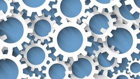 Закрепленные петлей шестерни с длинной предпосылкой сини тени иллюстрация штока