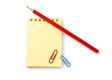закрепляет карандаш тетради бесплатная иллюстрация