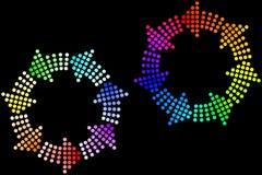 закрепляет петлей радуга Стоковые Фотографии RF