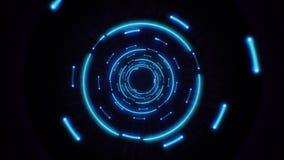 Закреплять петлей голубых абстрактных светлых кругов безшовный бесплатная иллюстрация
