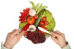 закрепляя здоровый путь еды mahlzeit Стоковое Изображение