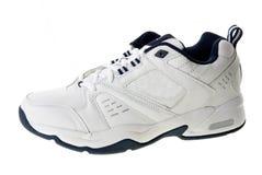 закрепляя изолированный спорт ботинка путя Стоковая Фотография RF