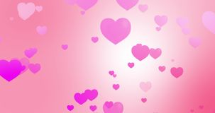 Закрепляя петлей розовая анимация сердец на розовой текстурированной предпосылке акции видеоматериалы