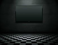 закрепляя плоский экран tv путя бесплатная иллюстрация