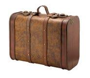 закрепляя старый чемодан путя Стоковые Фото