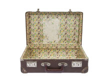 закрепляя старый чемодан путя Стоковая Фотография