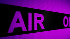 Закрепленная петлей оживленная предпосылка с идущей линией с ` цвета текста фиолетов-фиолетовым НА ` ВОЗДУХА на экране пикселы Бе