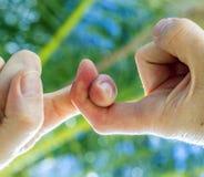 2 закрепленного пальца Стоковое фото RF