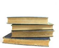 закреплять книг изолированный над белизной сбора винограда путя Стоковое Изображение RF