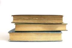 закреплять книг изолированный над белизной сбора винограда путя Стоковые Фотографии RF