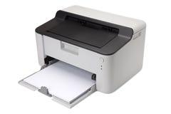 закрепляя изолированная белизна принтера путя лазера стоковые фотографии rf