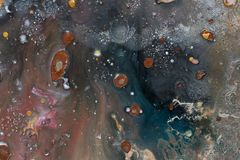 Закройте вверх абстрактной картины маслом Бежевая предпосылка галактика стоковые фотографии rf