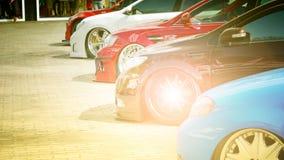 Закройте вверх, автомобиль спорт в месте для стоянки Стоковые Изображения RF