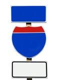Закройте вверх американского пустого дорожного знака изолированного на белизне Стоковое фото RF