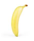 Закройте вверх банана На белизне Стоковое фото RF