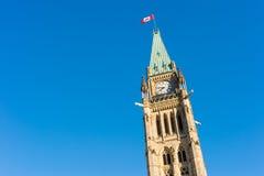 Закройте вверх башни мира в Оттаве, Канаде Стоковые Изображения RF